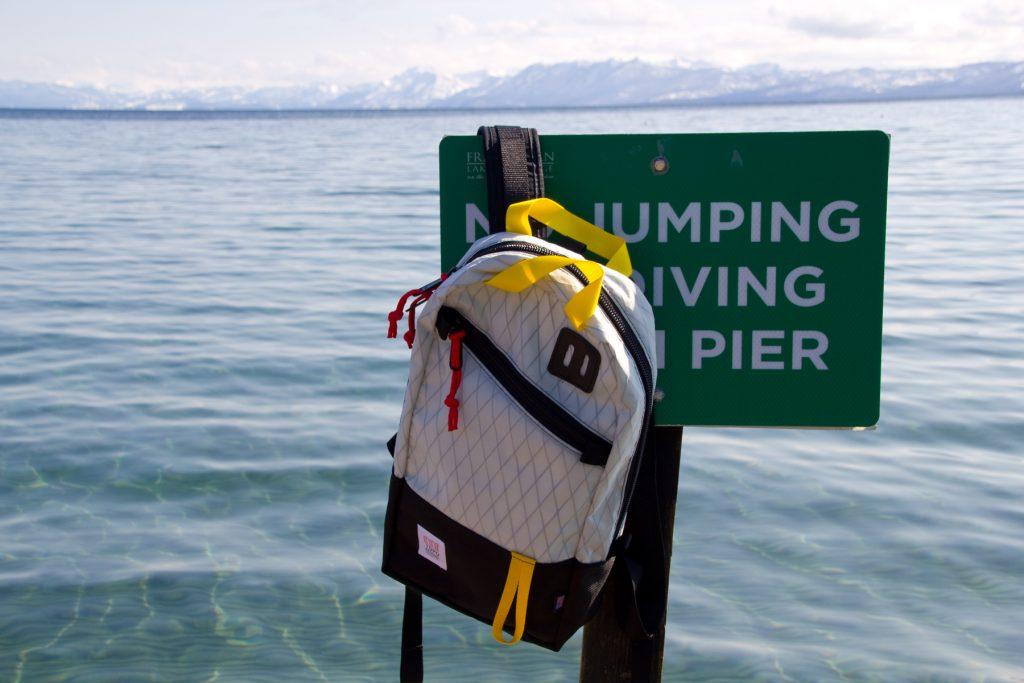 Topo Designs Trip Pack in X-Pack Black, North Lake Tahoe