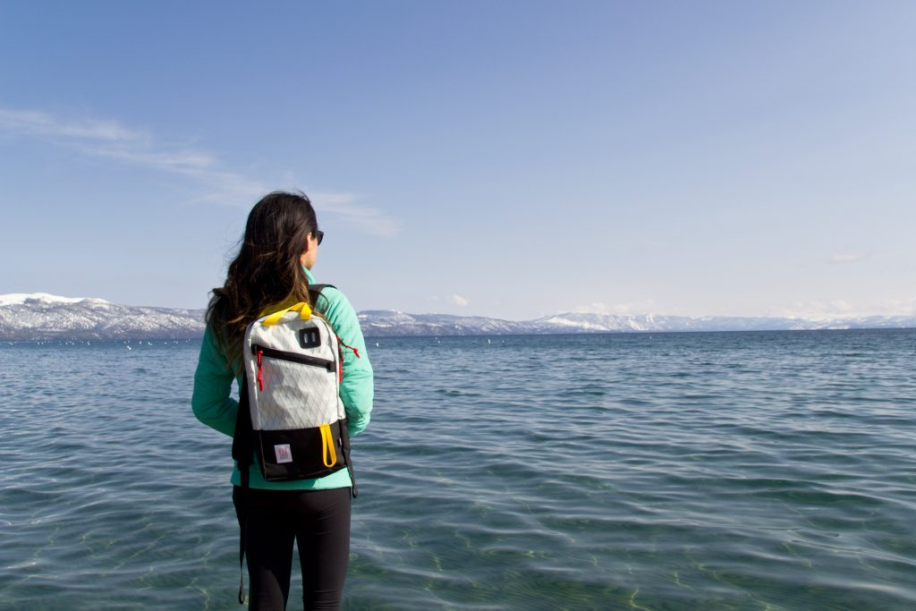 Topo Designs Trip Pack in X-Pack Black, North Lake Tahoe