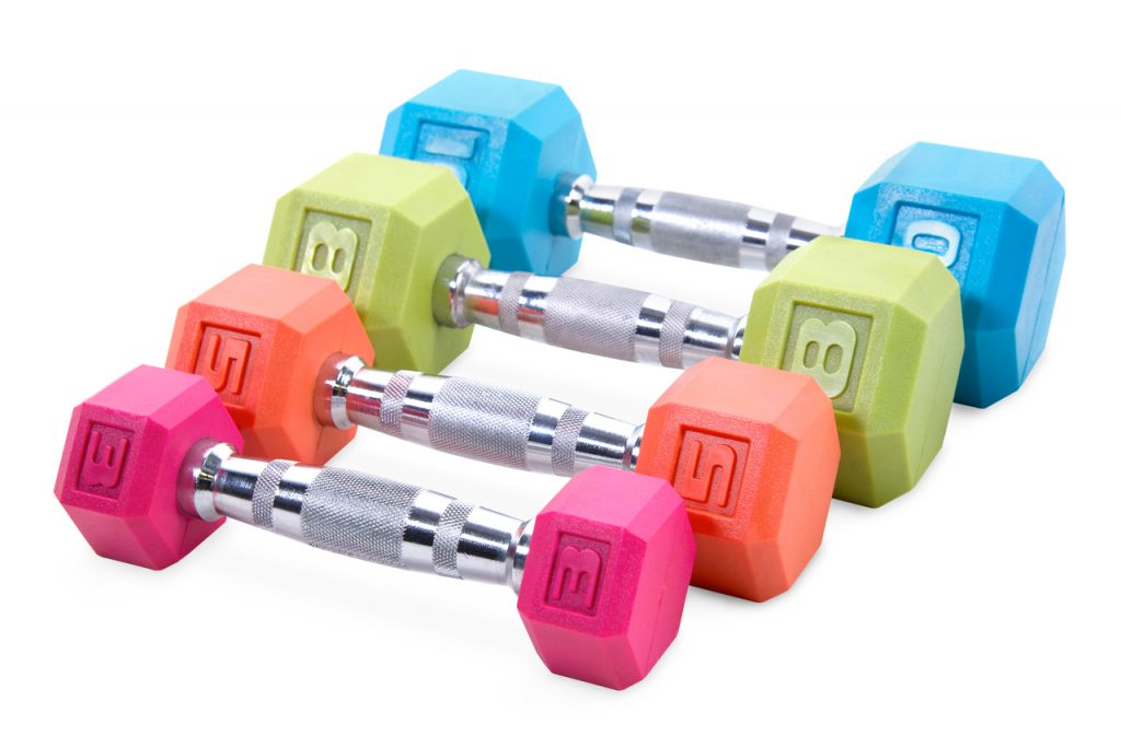 CAP Barbell Color Coated Hex Dumbbells