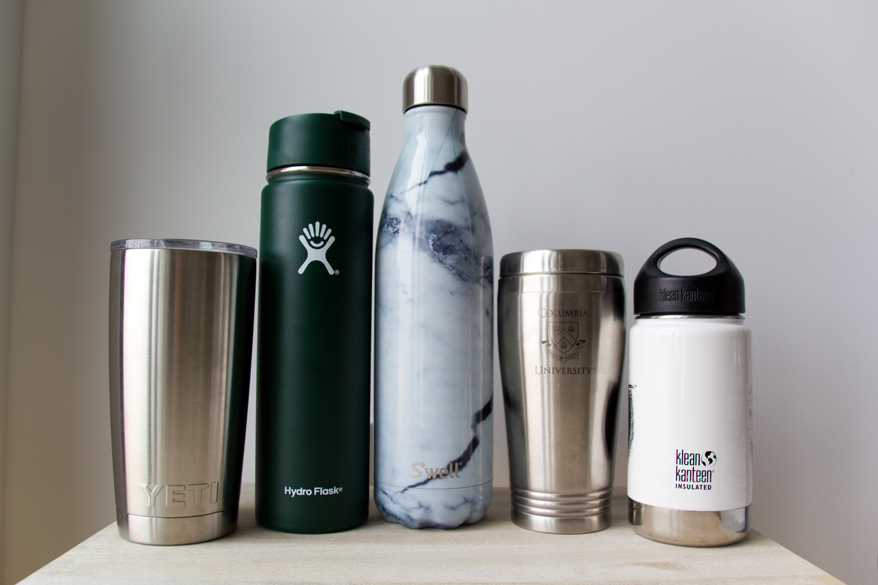 YETI vs Hydro Flask vs S'well vs Klean Kanteen