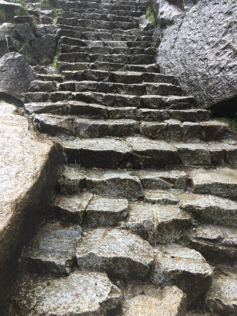 Steps up to Vernal Fall
