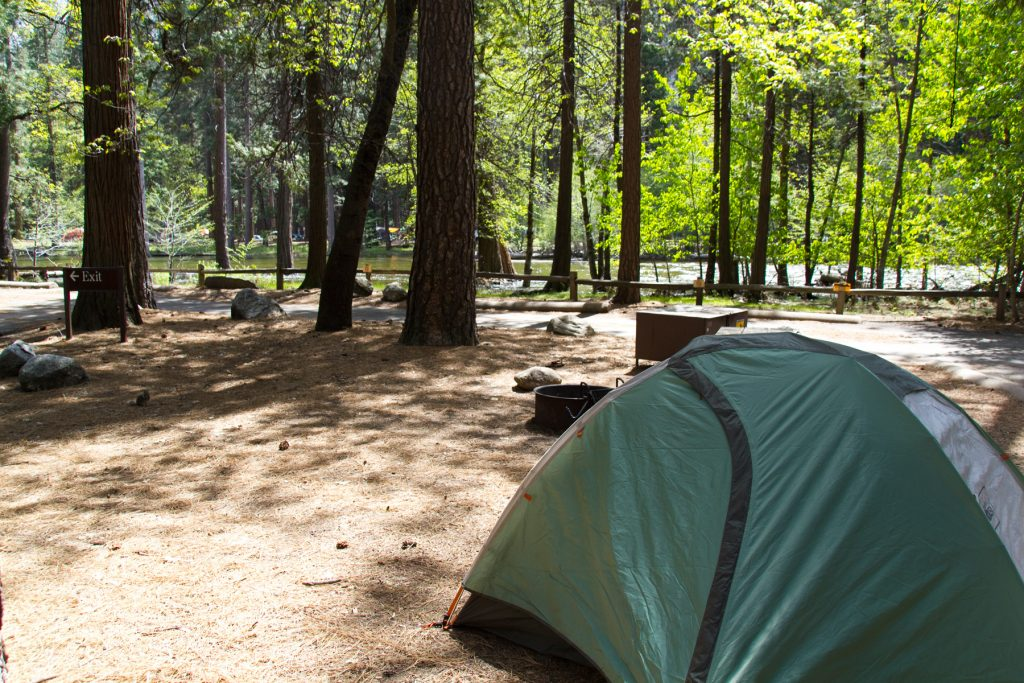 Campsite #515 at Yosemite North Pines Campground
