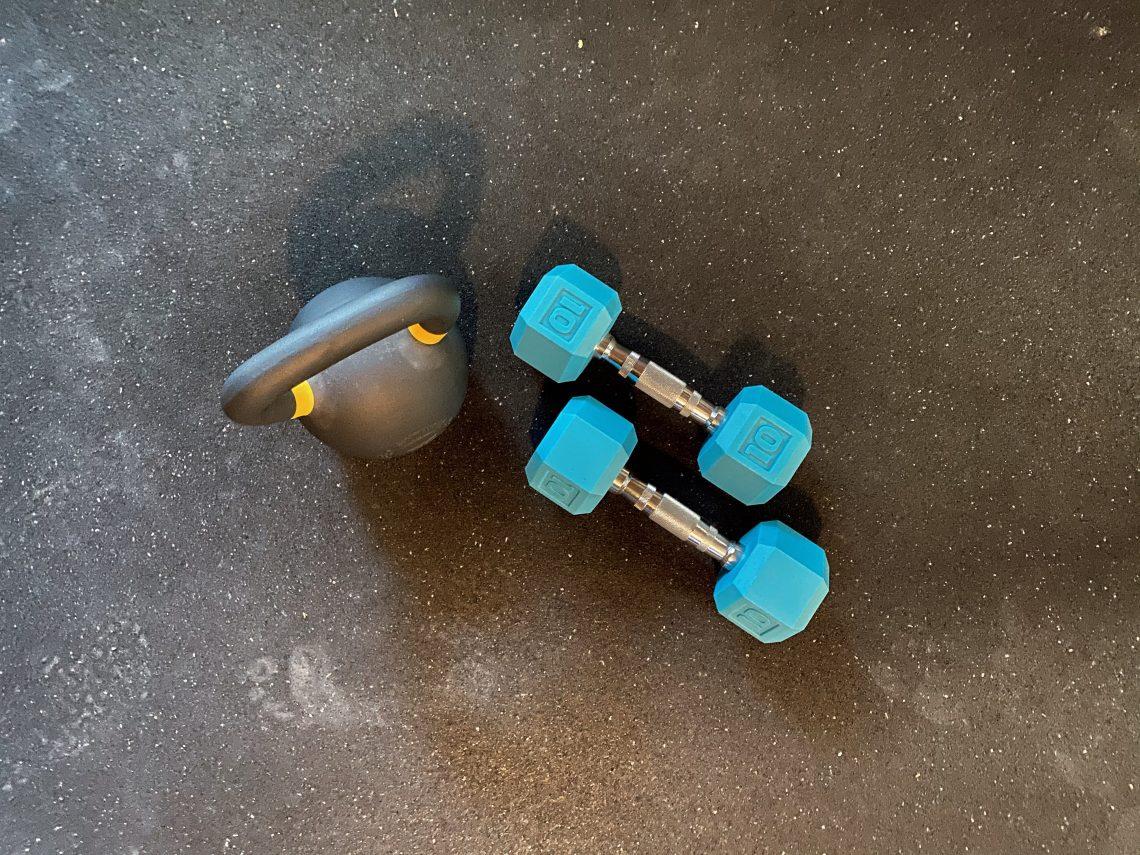 Kettlebell, Weights & Horsestall Mat
